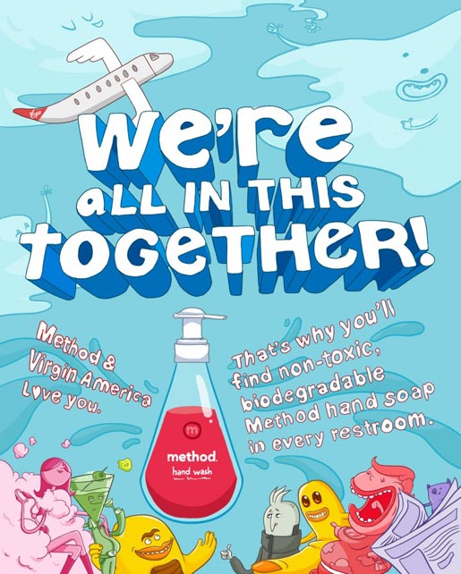 Method and Virgin America We're All In This Together poster