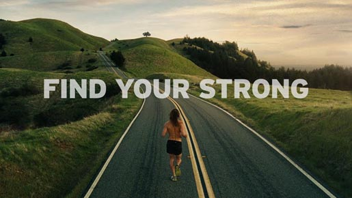 Saucony Find Your Strong print advertisement