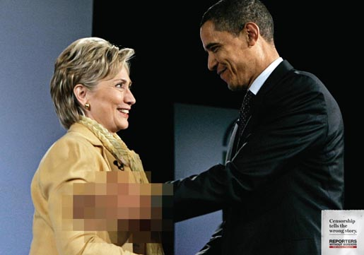 Reporters Without Borders Hilary Clinton and Barack Obama
