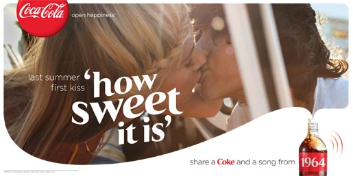 Coca Cola Share a Coke and a Song - First Kiss billboard