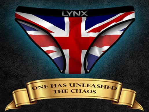 Lynx Unleashed Chaos Sorry Harry print ad