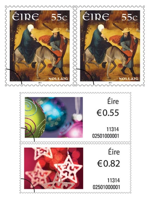 Eire Christmas Stamps 2011