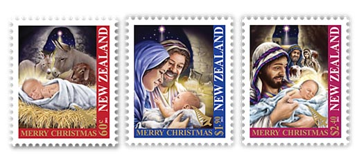 New Zealand Christmas Stamps 2011