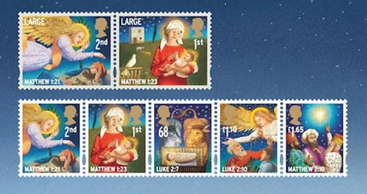 UK Christmas Stamps 2011