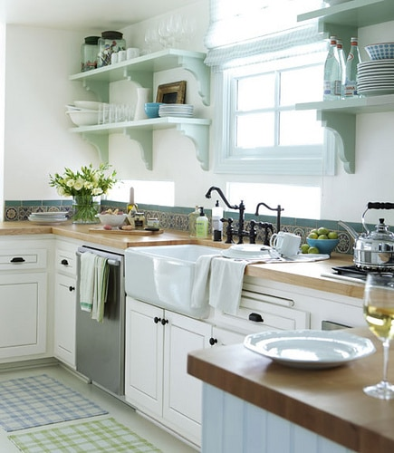 Cottage Kitchen Inspiration - The Inspired Room - cottage kitchen ideas