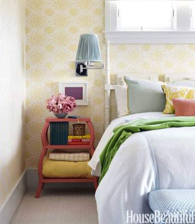Wallpaper for the Bedroom {Behind the Bed} - The Inspired Room