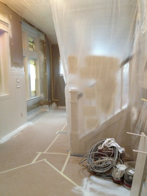 Painting The Interior Trim {Remodeling Project Update} - The