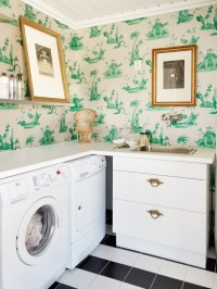 Laundry Room Wallpaper | Simple Home Decoration