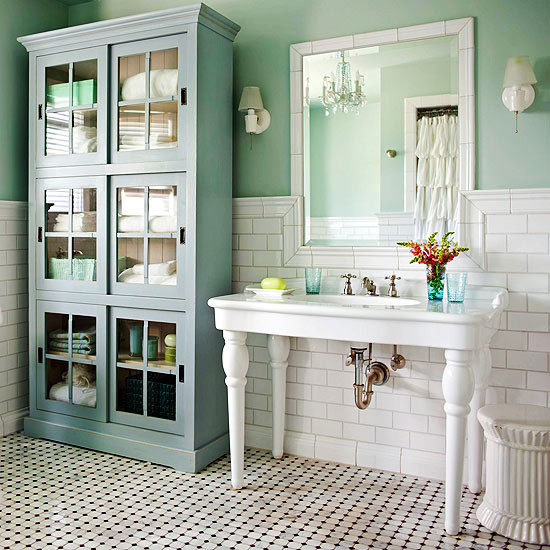 Cottage Style Bathrooms & A Blog Makeover - The Inspired Room