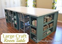 DIY Craft Room Storage Table - The Inspired Room