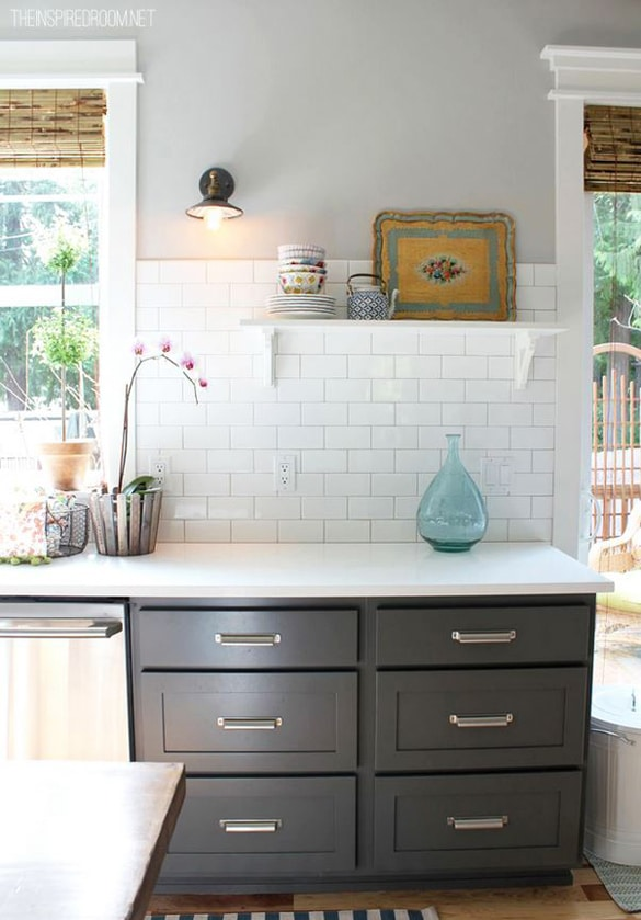 Open Kitchen No Island Paint Colors {my House} - The Inspired Room