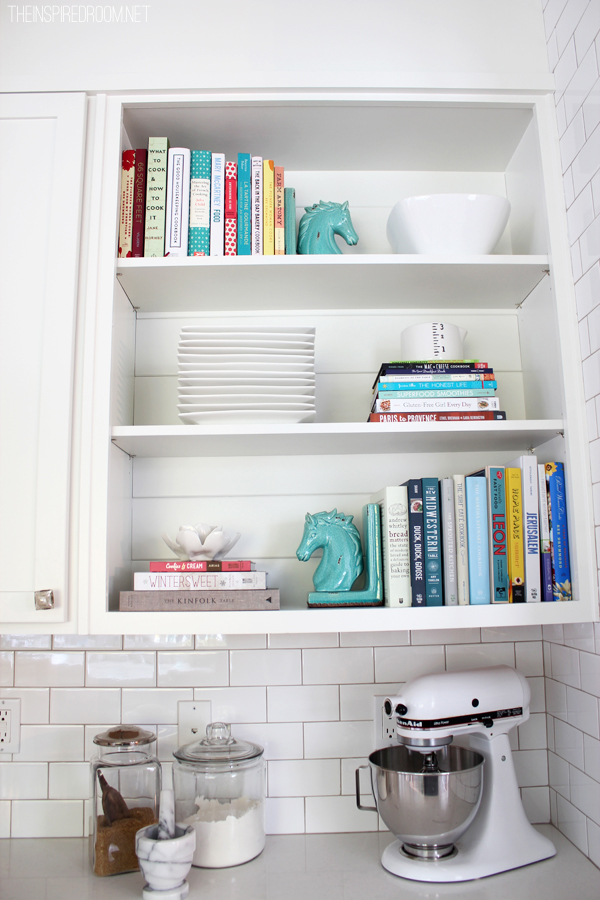 Cookbook Addiction Shelf Styling The Inspired Room