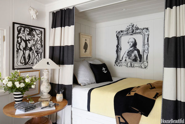 Black Grey Cream Stripe Wallpaper 5 Ways To Have A Cozy Bedroom The Inspired Room