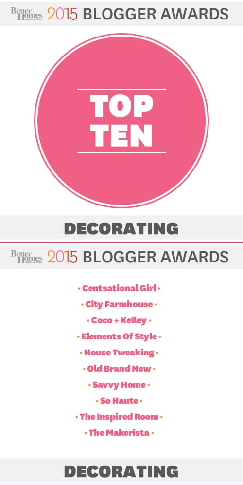 Organizing The Office {& Bhg Top Ten Decorating Blogs!} - The