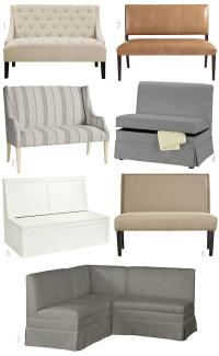 On the Hunt for a Dining Banquette {Gather} - The Inspired ...