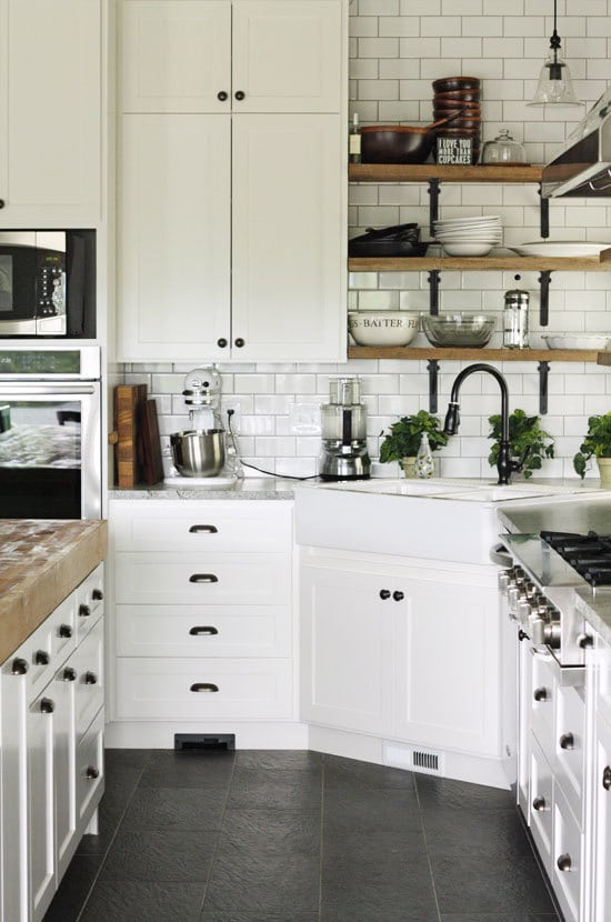 black hardware black white wood kitchen slate floors dark gray kitchen designed talented atlanta based kitchen