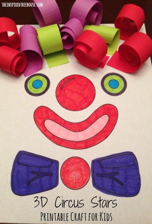 CIRCUS PRINTABLE ACTIVITIES FOR KIDS