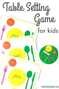 Table Setting Thanksgiving Activity for Kids - The ...