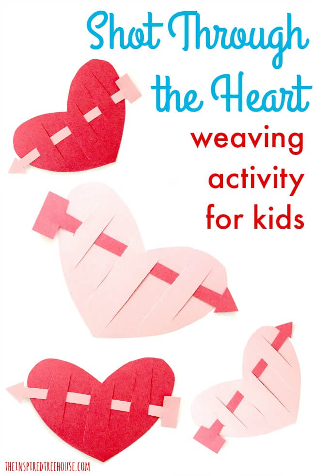 Valentine Crafts for Kids Shot Through the Heart! - The Inspired
