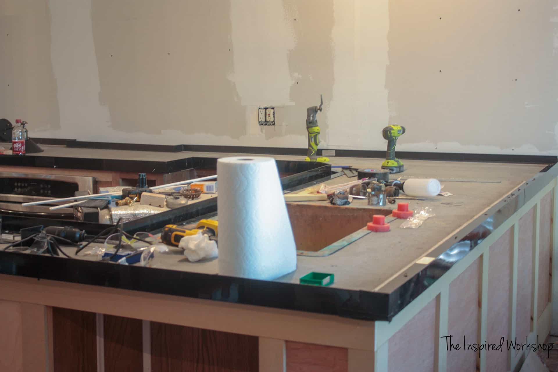Diy Concrete Countertops Pour In Place The Inspired Workshop