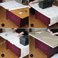 DIY Friday  contact paper table top  The Interior DIYer