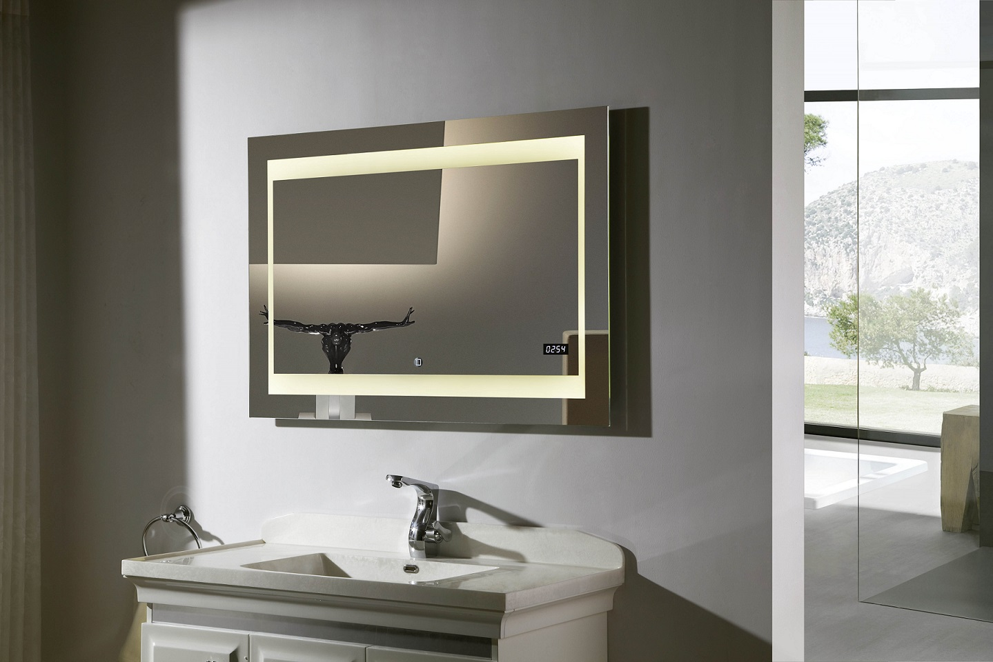 Vanity Mirrors Zen Ii Lighted Vanity Mirror Led Bathroom Mirror