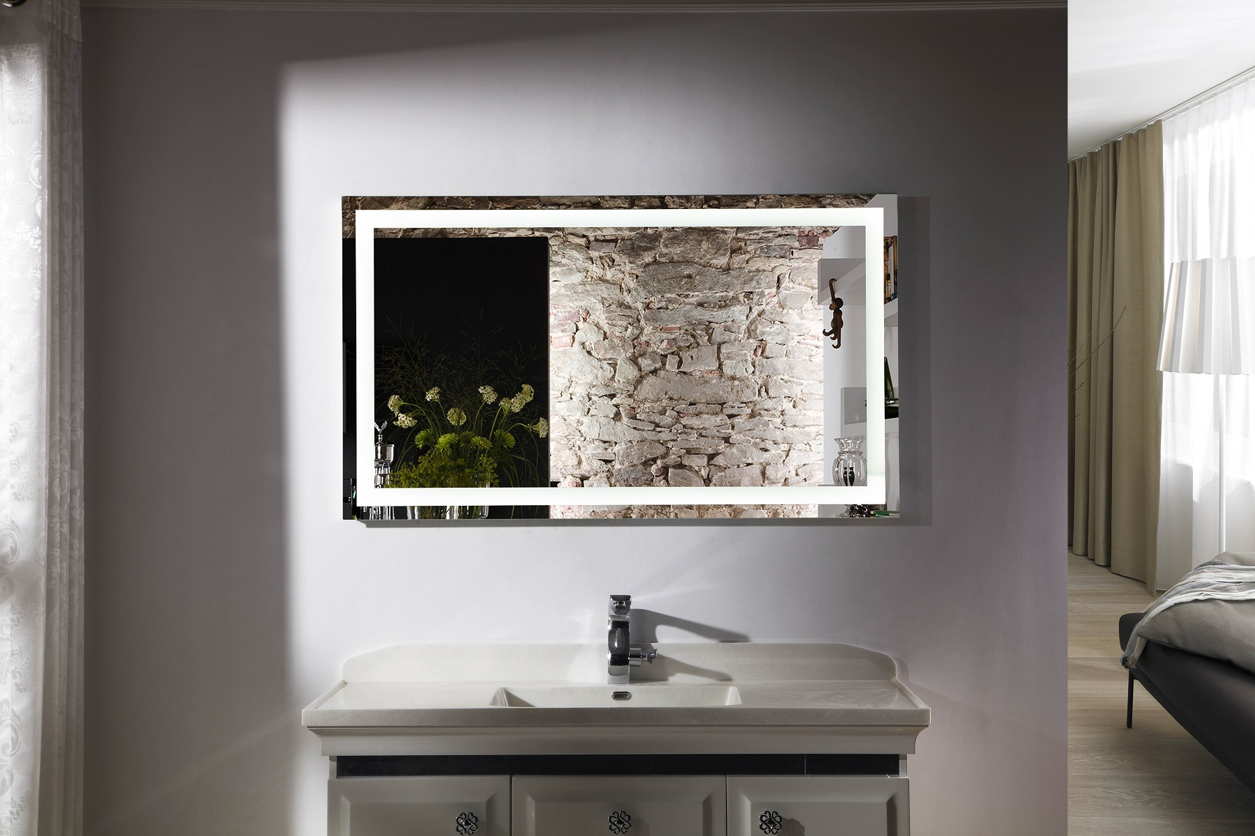 Bathroom Mirrors With Led Lights Sale Budapest Iv Lighted Vanity Mirror Led Bathroom Mirror