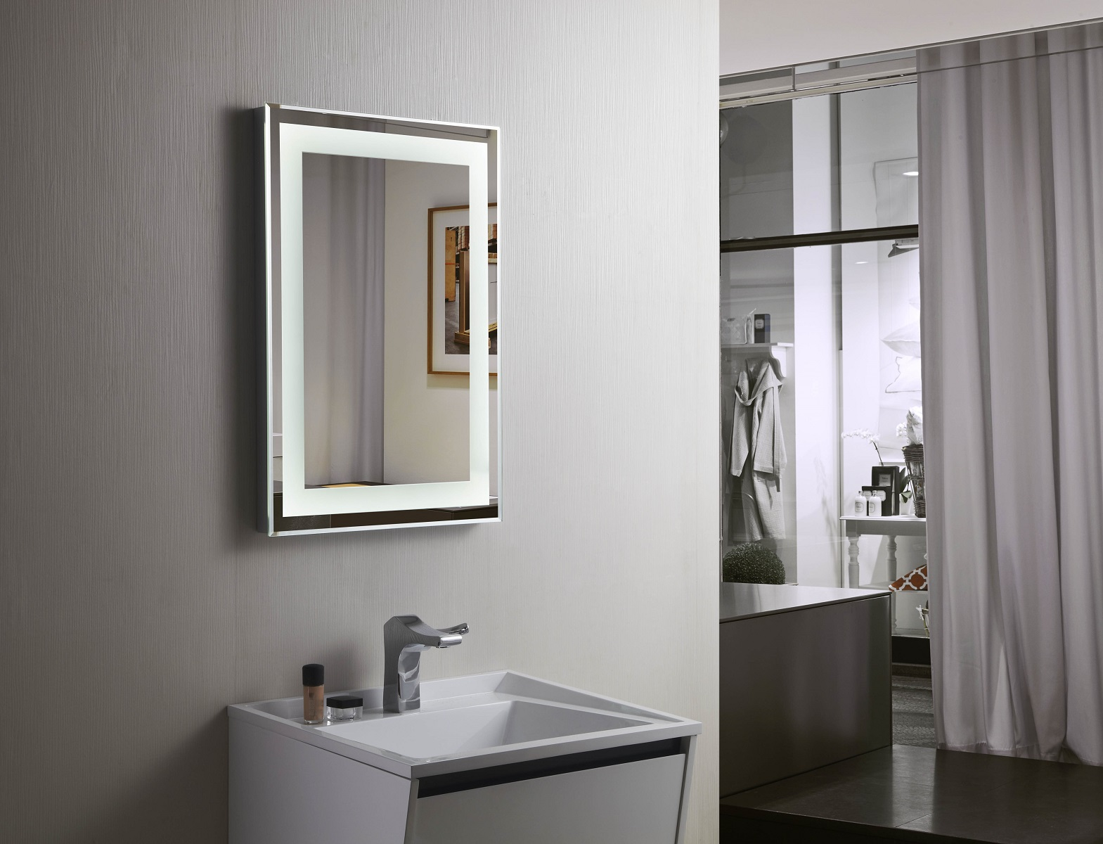 Light Bathroom Mirror Bathroom Mirror Lighting Led With Brilliant Inspirational Eyagci