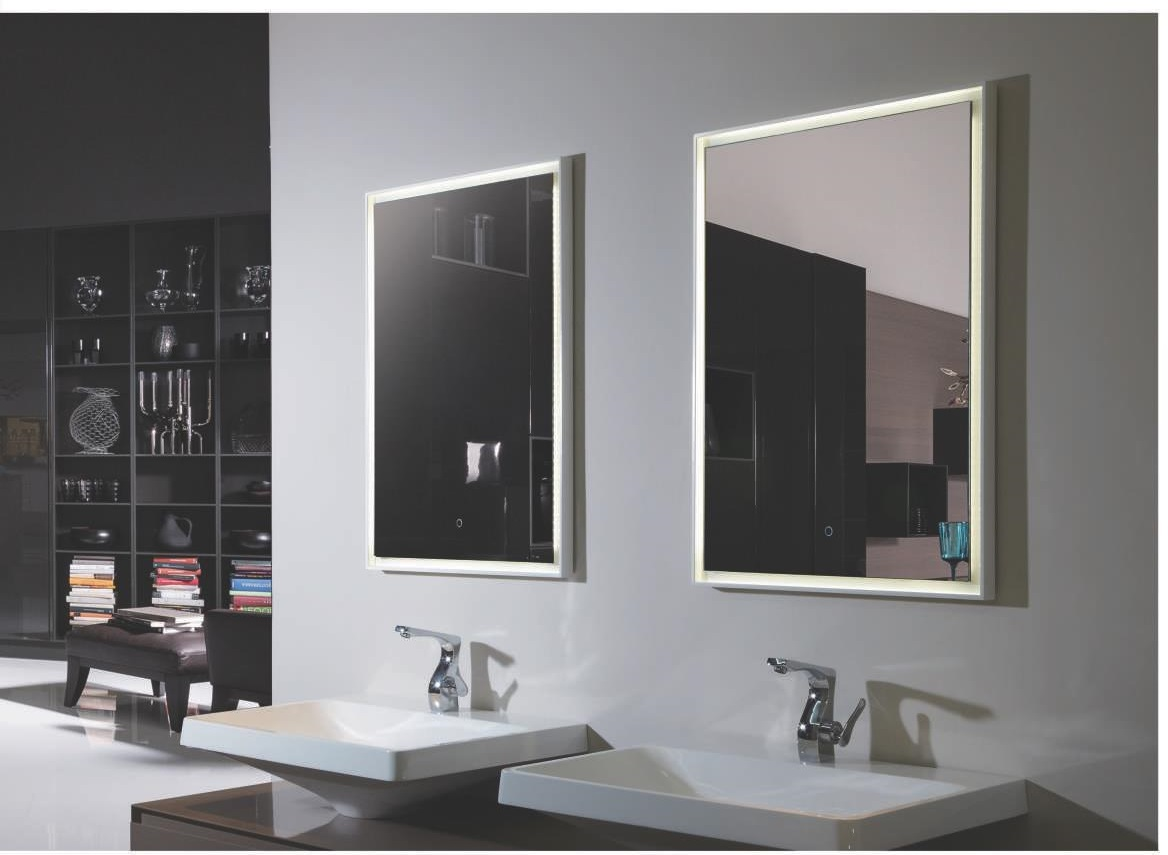 Vanity Mirrors Fiori Lighted Vanity Mirror Led Bathroom Mirror