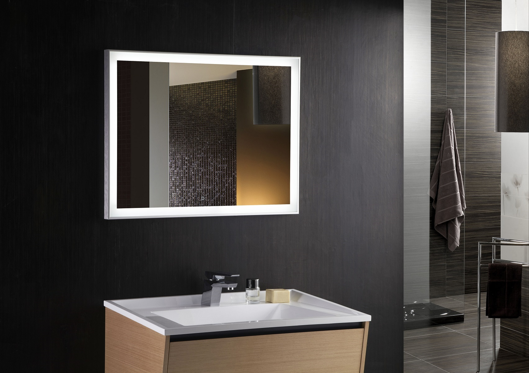 Cuzio Lighted Vanity Mirror Led Bathroom Mirror