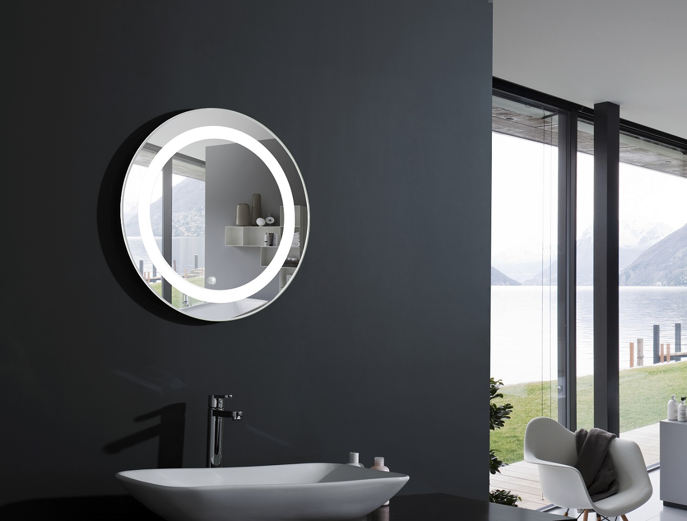 Bathroom Mirrors With Led Lights Sale Elita Round Lighted Vanity Mirror Led Bathroom Mirror