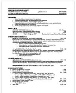 resume example work experience section first resume example with no work experience the balance how to
