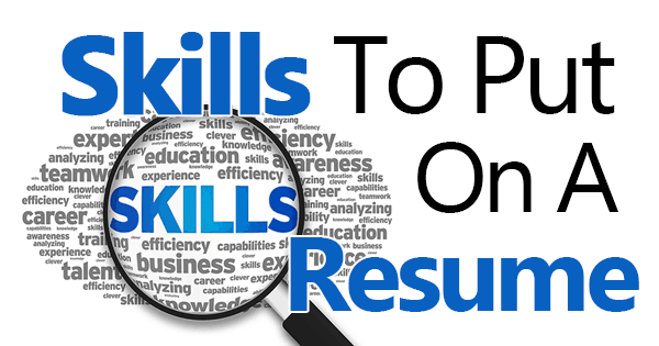 List Of Action Verbs Career Services Network Skills To Put On A Resume