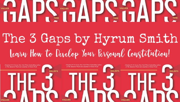The 3 Gaps by Hyrum Smith