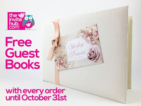 Free Wedding Guest Books! Wedding Stationery - The Invite Hub - guest books wedding
