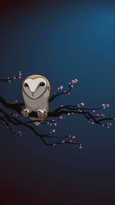 Masked Owl Vector Art - The iPhone Wallpapers
