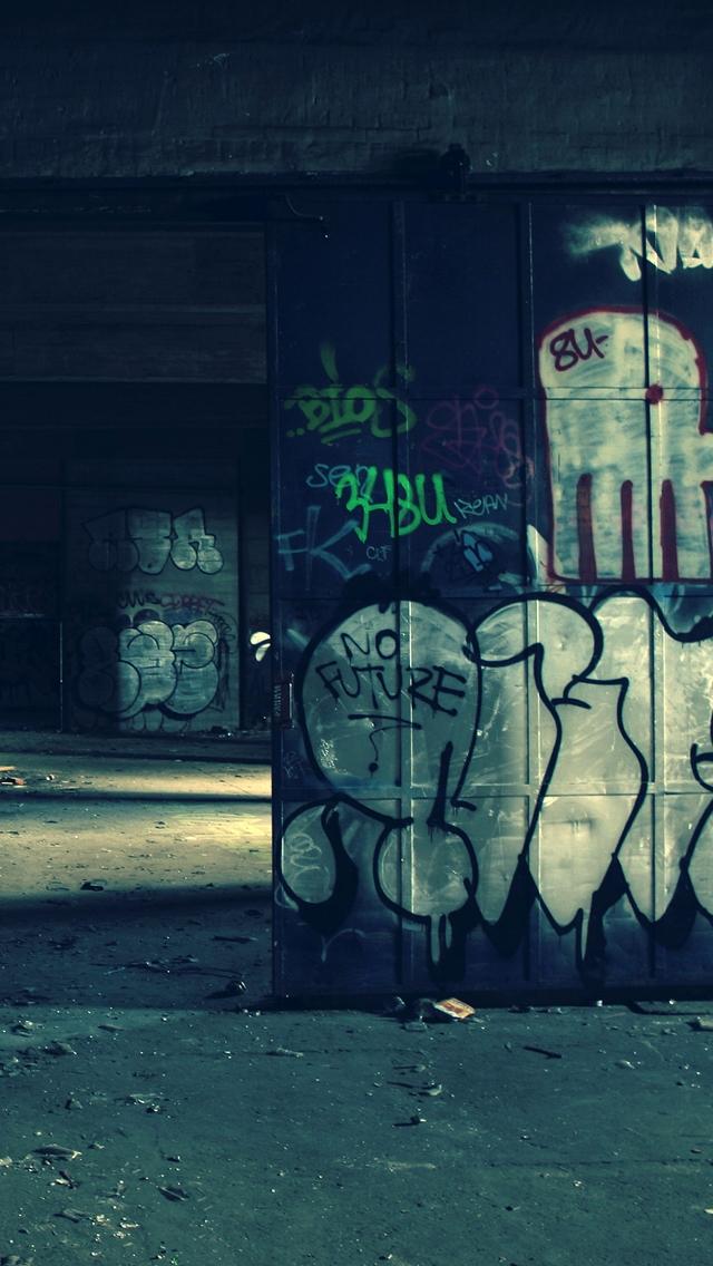 3d Pyramid Wallpaper Warehouse Graffiti The Iphone Wallpapers