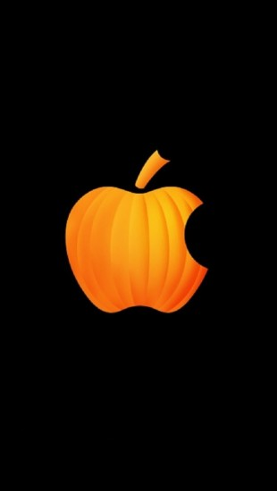 Cute Wallpapers Plain Pumpkin Apple The Iphone Wallpapers