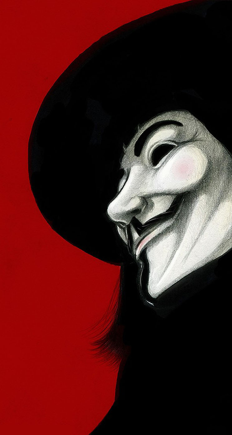 V For Vendetta Quotes Phone Wallpaper V For Vendetta Red Background The Iphone Wallpapers