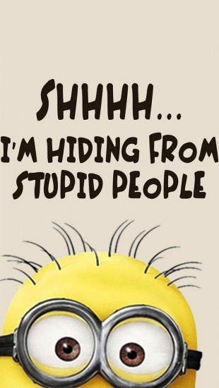 Cute Ipod Wallpapers For Walls Minions Stupid People The Iphone Wallpapers