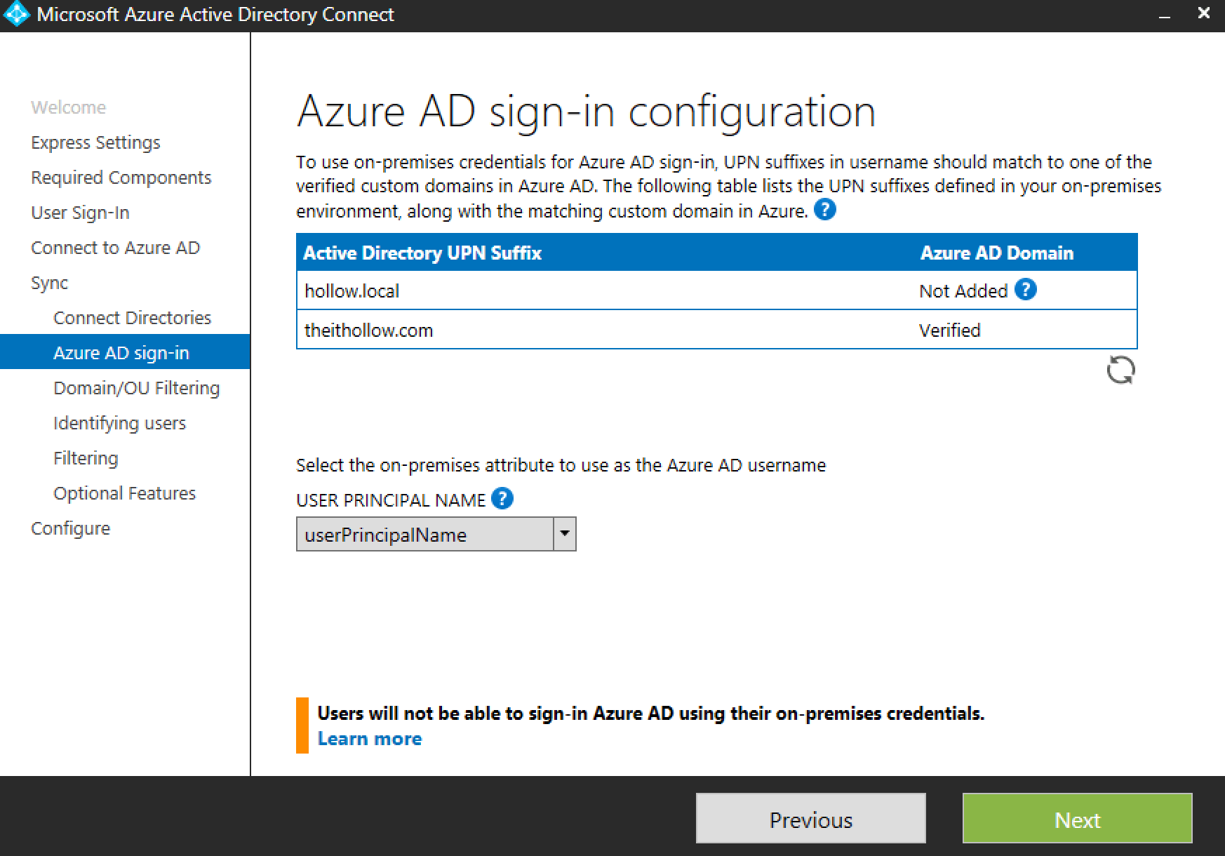 My Dal Login Setup The Azure Ad Connector The It Hollow