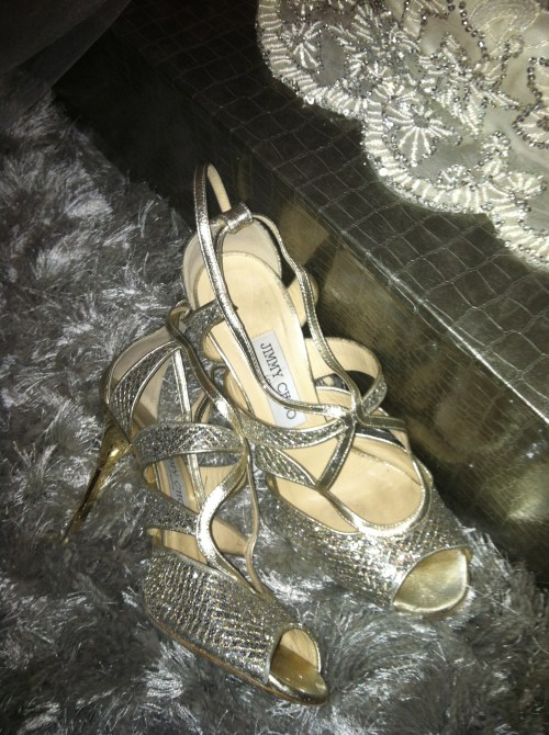 Silver Jimmy Choos