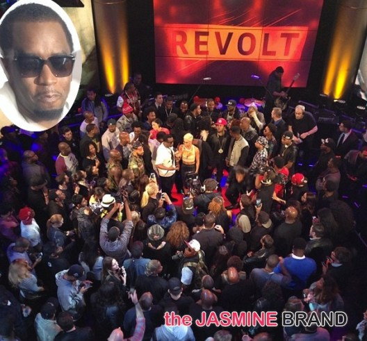 crowd shot-diddy-launches revolt live studio-the jasmine brand
