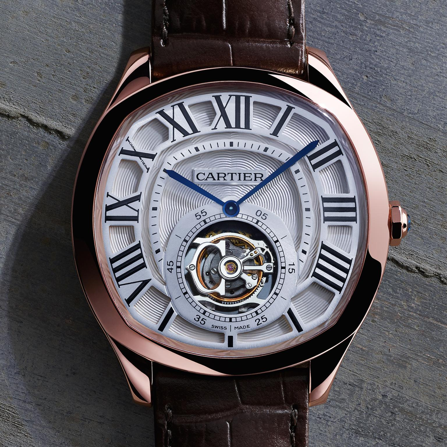 Cartier Watches Drive De Cartier Tourbillon Watch In Rose Gold