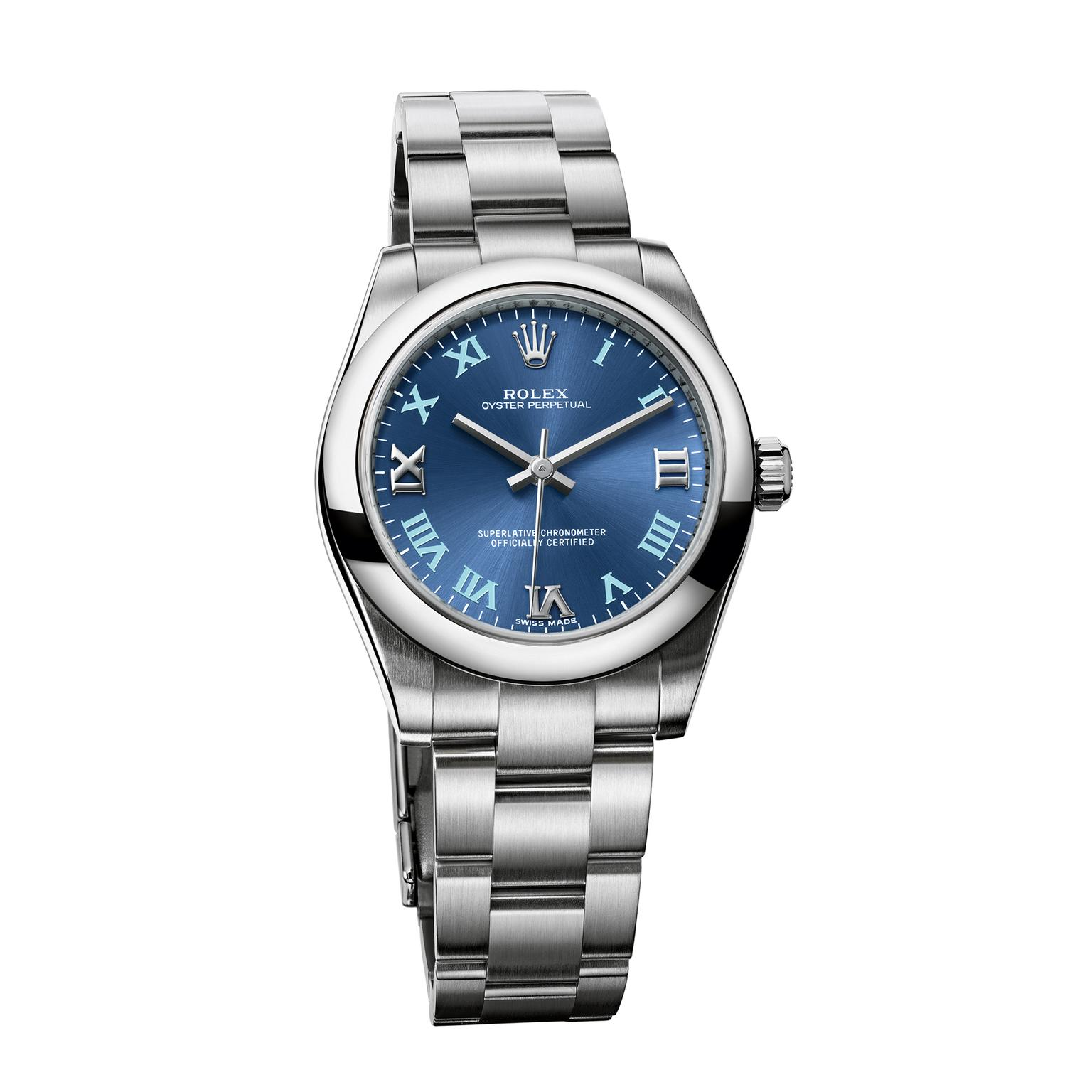Steel Rolex Oyster Perpetual 31mm 904l Watch In Steel