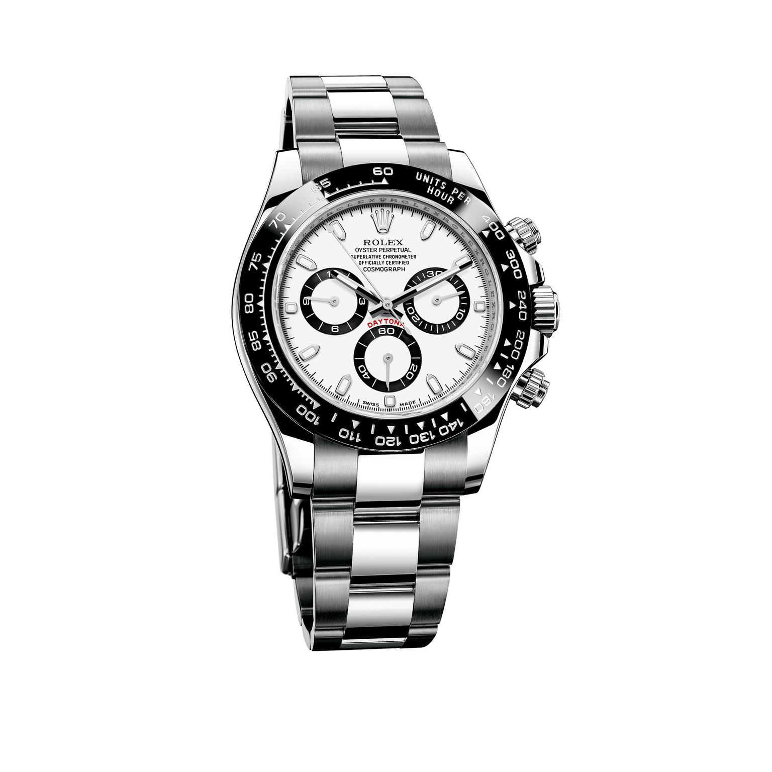 Steel Rolex Cosmograph Daytona Watch In Stainless Steel