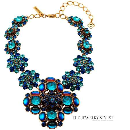 Oscar de la Renta Swarovski Statement Necklace