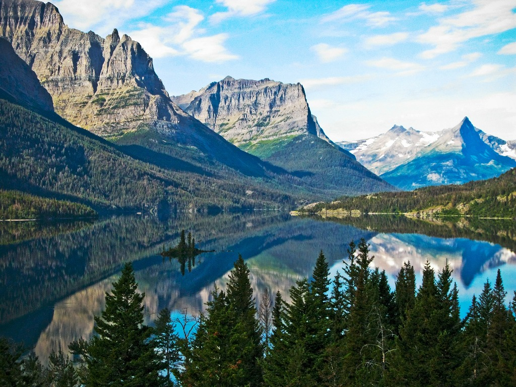 Fall In Vermont Wallpaper Glacier National Park Montana Jigsaw Puzzle In Great