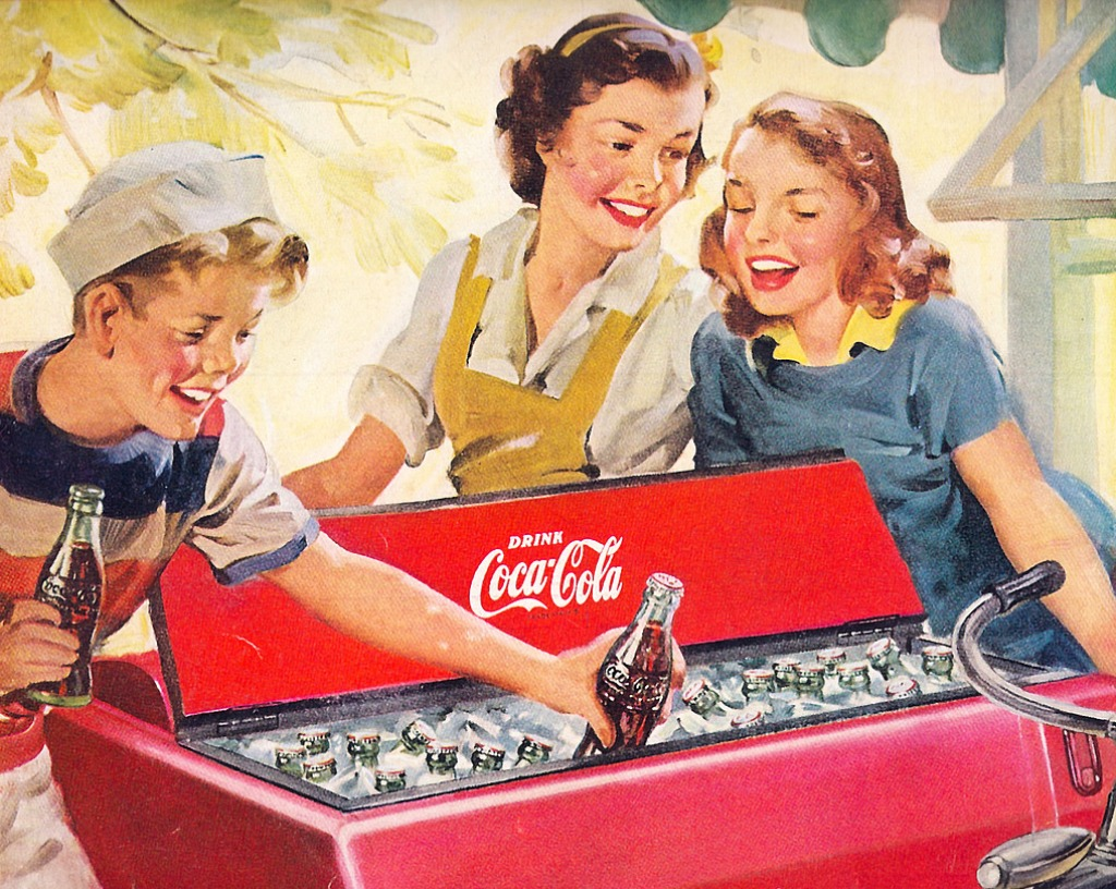 Piece Ad 1951 Coca Cola Ad Jigsaw Puzzle In People Puzzles On
