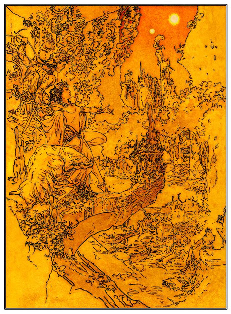 A Princess Of Mars - History Lesson Above Lost Korad by Michael Kaluta